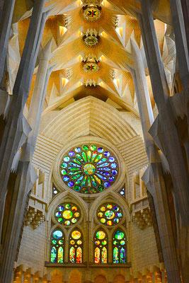 architecture noir et blanc église intérieur barcelone barcelona sagrada familia cabinet architecte angers photographe maine et loire pays de la loire