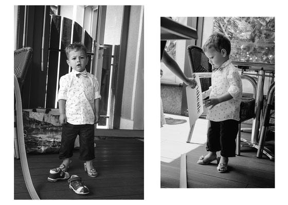 portrait enfant boy garçon mariage wedding baptême noir et blanc black and white photographe 44 49 85 pays de la loire loire-atlantique maine et loire vendée