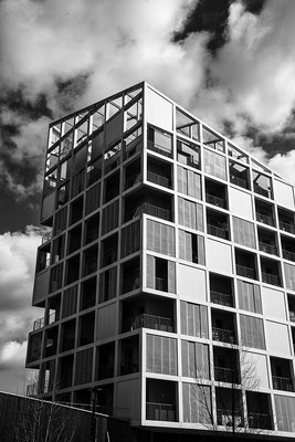 architecture noir et blanc contraste architecte photographe île de nantes loire-atlantique pays de la loire