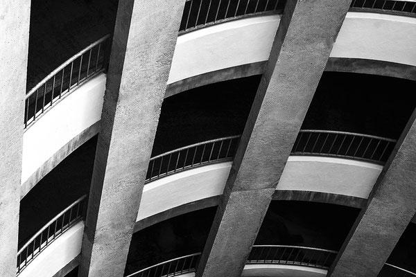architecture noir et blanc parking architecte photographe nantes loire-atlantique pays de la loire