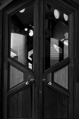 architecture noir et blanc vitres porte fenêtres architecte photographe nantes loire-atlantique pays de la loire