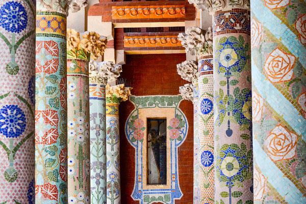 architecture noir et blanc église intérieur barcelone barcelona el palau de musica art colors cabinet architecte angers photographe maine et loire pays de la loire