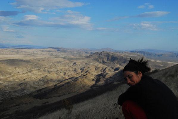 La vue depuis le monastère de David Gareja