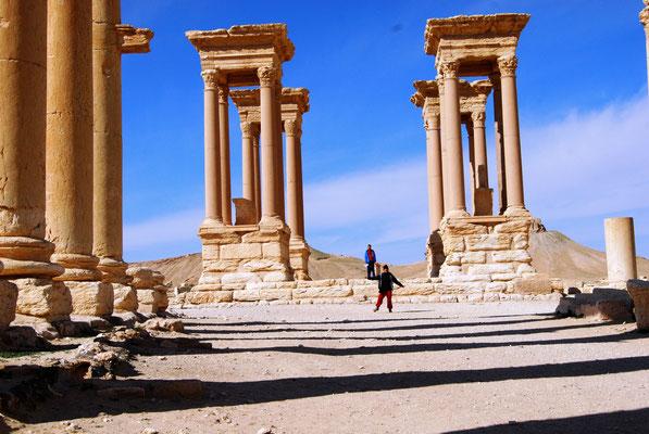 Les ruines archéologiques de Palmyre en Syrie