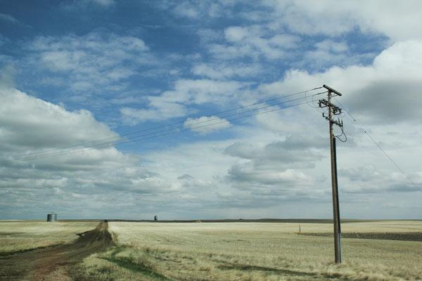Les prairies de Saskatchewan au Canada