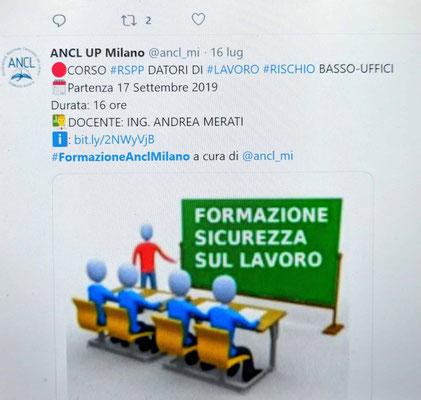 Ing. Andrea Merati - Formazione ANCL UP (Milano)