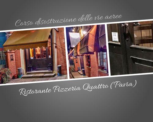 Corso di formazione sulla disostruzione delle vie respiratorie - Ristorante Pizzeria Quattro (Pavia)