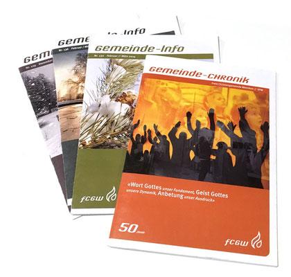 Grundgestaltung Gemeindeinfo/Chronik Freie Christengemeinde Wetzikon