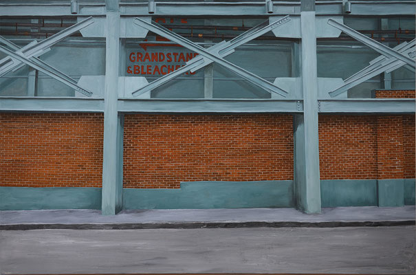 Back of Green Monster Fenway Park on Lansdowne Street