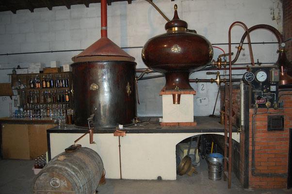 Destilleer installatie klein