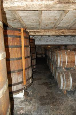 Houten vaten Chateau Guynot