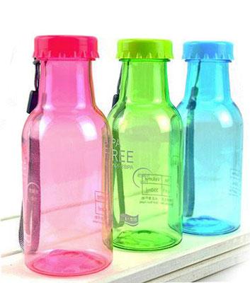 Sport/Reise-Getränkeflaschen aus schlagfestem Lebensmittelkunststoff, Inhalt 0,33 L
