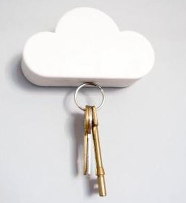 Kleine Wolke hält Deine Schlüssel, durch Zauberkraft...auch in Blau, Pink und Gelb