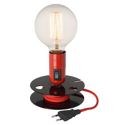 Im Werkstatt-Look: Glühfadenleuchte mit warmen Licht,  mit Kabelwickler