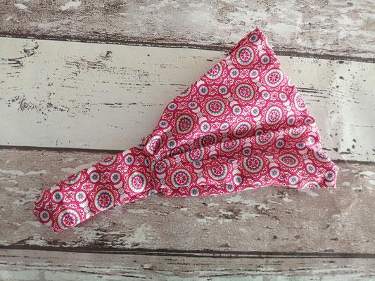 Haarband Bandana Kopftuch Blumen petrol handgemacht Handarbeit handmade SaSch Selbstgefertigtes aus Schwaben