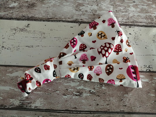 Haarband Bandana Kopftuch Pilze handgemacht Handarbeit handmade SaSch Selbstgefertigtes aus Schwaben