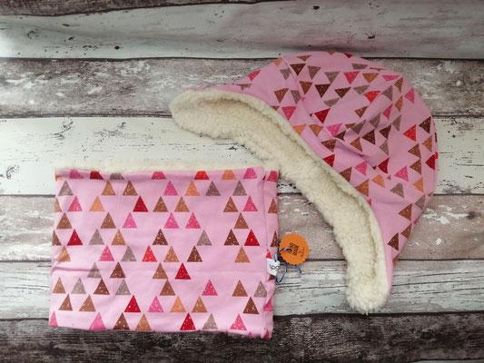 Loop Schal Wintermütze Mütze Dreiecke handgemacht Handarbeit handmade SaSch Selbstgefertigtes aus Schwaben