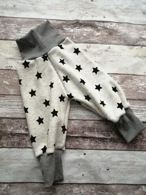 Hose Gr. 62 68 Sterne handgemacht Handarbeit handmade SaSch Selbstgefertigtes aus Schwaben