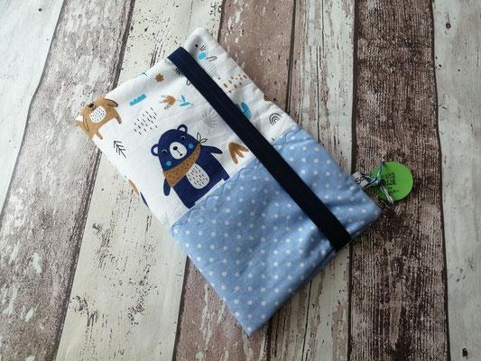 Windeltasche Wickeltasche togo blau Bär handgemacht Handarbeit handmade SaSch Selbstgefertigtes aus Schwaben
