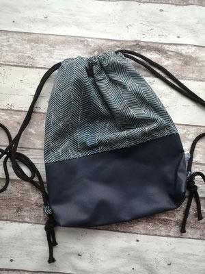 Turnbeutel Gymbag blau handgemacht Handarbeit handmade SaSch Selbstgefertigtes aus Schwaben