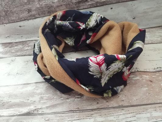 Loop Schal Feder Federn handgemacht Handarbeit handmade SaSch Selbstgefertigtes aus Schwaben