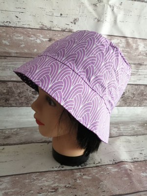 Fischerhut Hut Sommerhut Sonnenhut lavendel flieder handgemacht Handarbeit handmade SaSch Selbstgefertigtes aus Schwaben