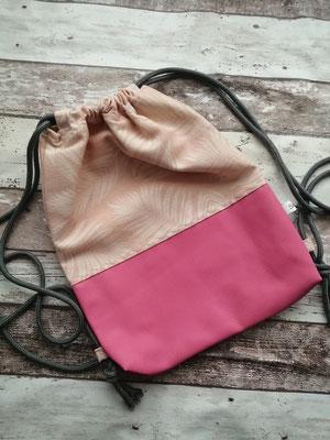 Turnbeutel Gymbag rosa handgemacht Handarbeit handmade SaSch Selbstgefertigtes aus Schwaben