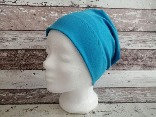 Mütze Beanie blau handgemacht Handarbeit handmade SaSch Selbstgefertigtes aus Schwaben
