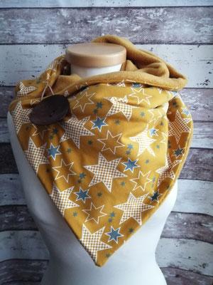 Knopfschal Schal Sterne handgemacht Handarbeit handmade SaSch Selbstgefertigtes aus Schwaben
