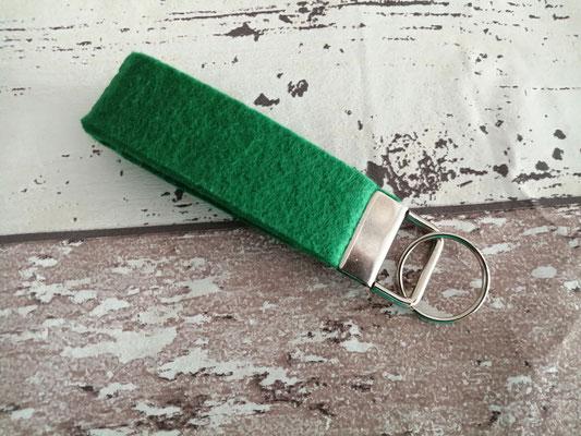 Schlüsselband Schlüsselbänder Filz grün handgemacht Handarbeit handmade SaSch Selbstgefertigtes aus Schwaben