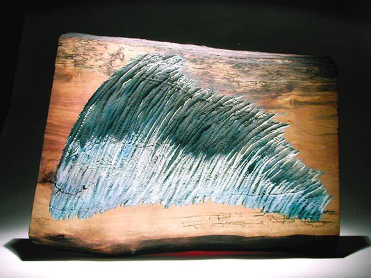 """"""" La vague"""" frêne 40 x 60 cm - 2005"""