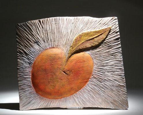 """ Le grand jardin"" frêne - 50 x 70 cm - 2007"