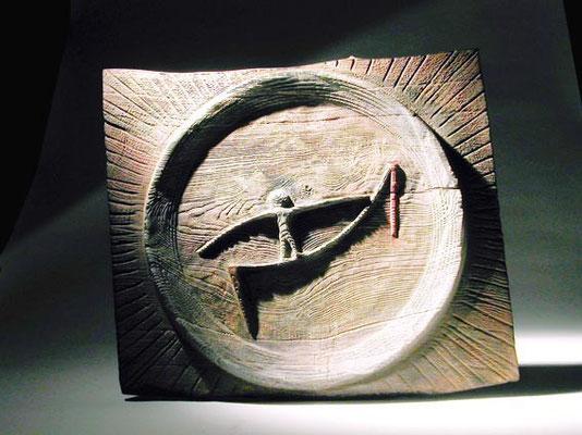 """""""Le funambule"""" frêne 50 x 65 cm - 2007"""