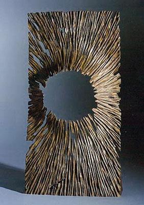 """Empreinte M"" frêne - 55 cm - 2002"