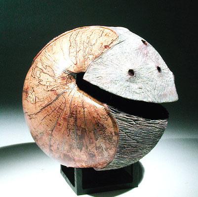 """""""Terra incognita 004"""" hêtre échauffé - dia 33 cm - 2006"""