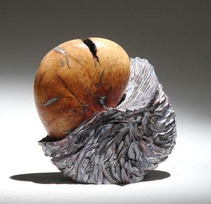 """""""Emergence"""" ronce de bruyère - h16 cm - 2009"""