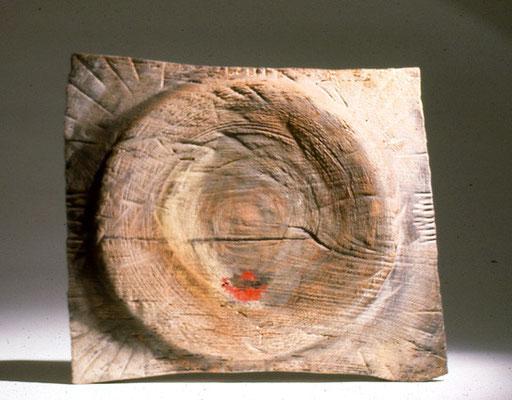 """""""Les arènes"""" noyer - 40 x 55 cm- 2002"""