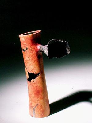 """""""Wind blower"""" ronce de bruyère - h 22 cm - 2005"""