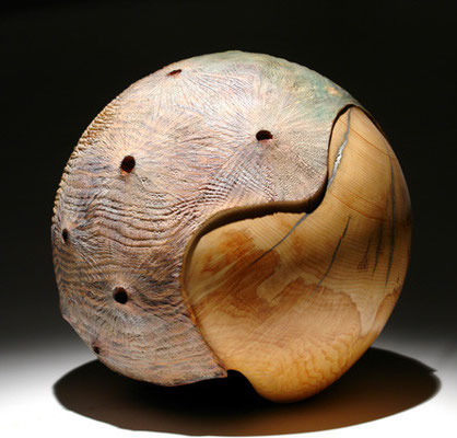 """Terra incognita 005""  pin cembro - dia 37 cm - 2007"