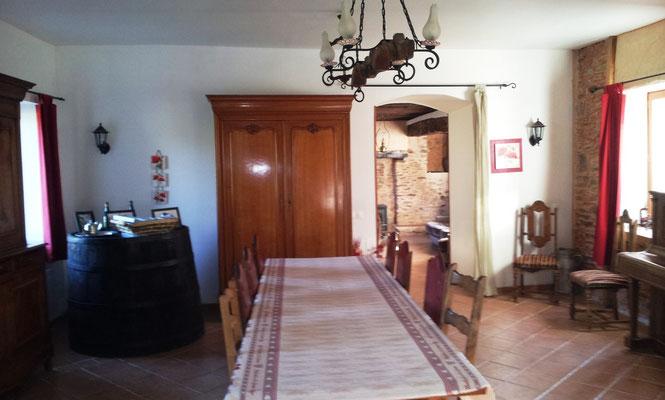 La salle de séjour de la cidrerie