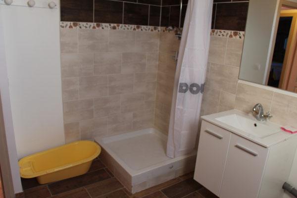 Douche à l'étage
