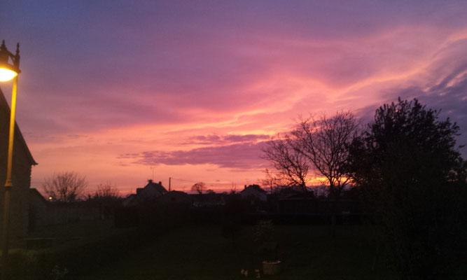 lever de soleil sur la Cidrerie