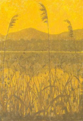 Herbstliches Ufer, 1997, Öl/Leinwand, 130 x 80 cm