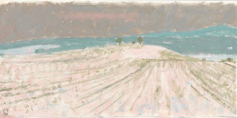 Winterlandschaft, 1978, Öl/Karton, 24 x 45 cm