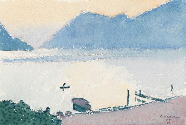 Locarno, 1950, Aquarell, 20 x 30 cm