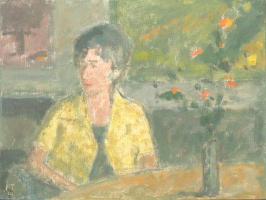 Im Atelier, 1974, Öl/Leinwand, 33 x 40 cm