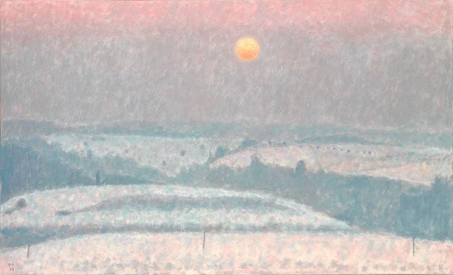 Winterabend, 1998, Öl/Leinwand, 90 x 140 cm