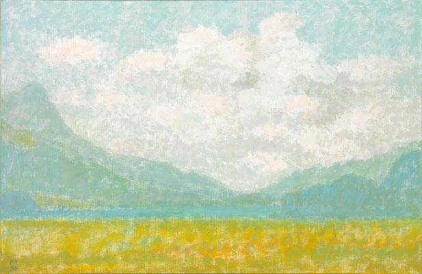 Engadiner Wolkenhimmel, 1986, Öl/Leinw., 67 x 103 cm