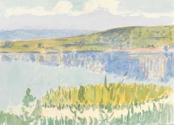 See, 1957, Aquarell, 27 x 37 cm