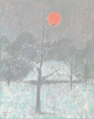Kleine Wintersonne, 1983, Öl/Leinwand, 41 x 33 cm
